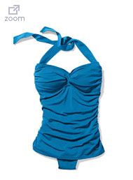 3b62c7cb55 Marshalls- Ocean Blue Swim Suit (loving the ruffled look) | Fashion ...