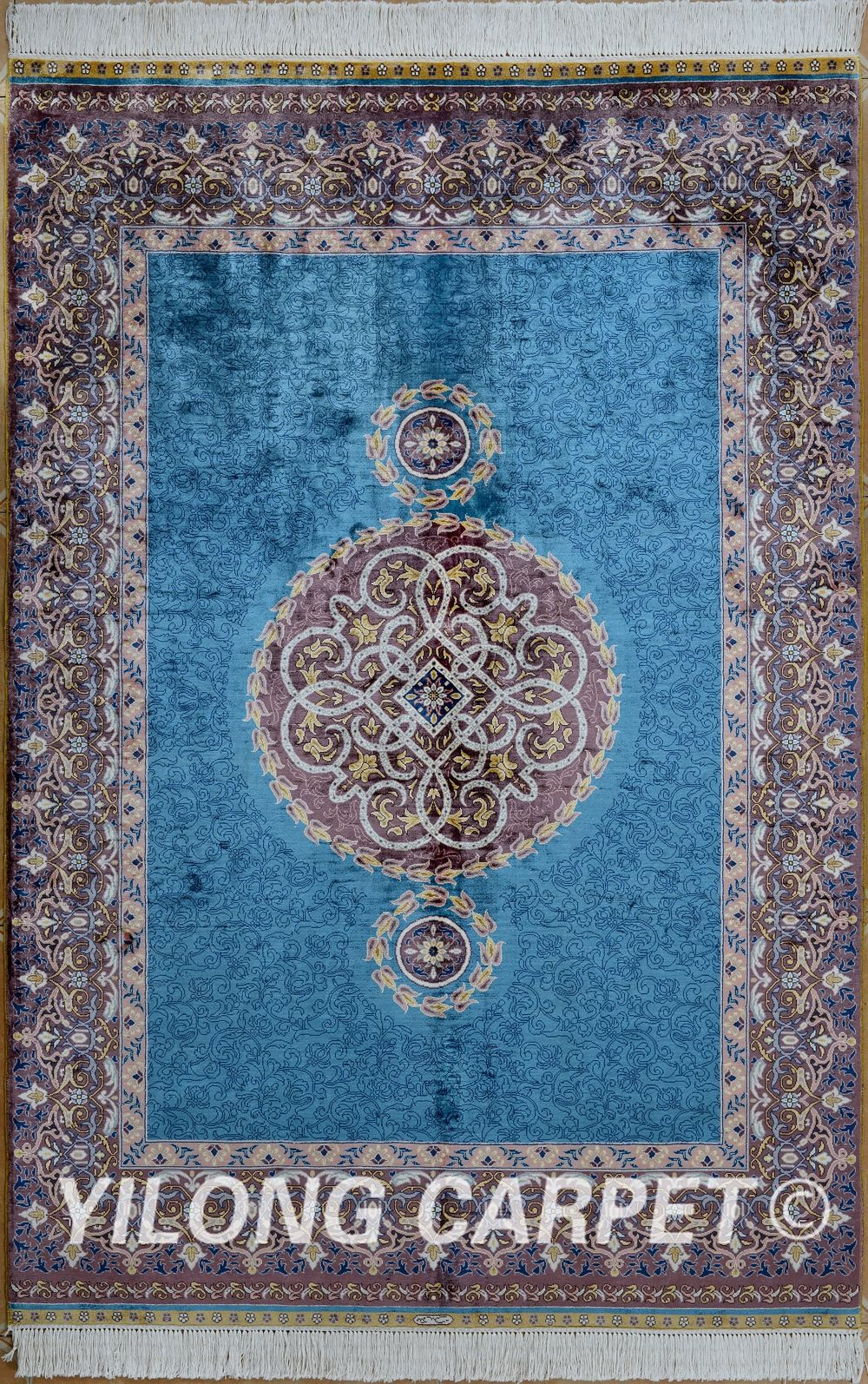 Kashmiri Carpets Materials Silk Style Traditional