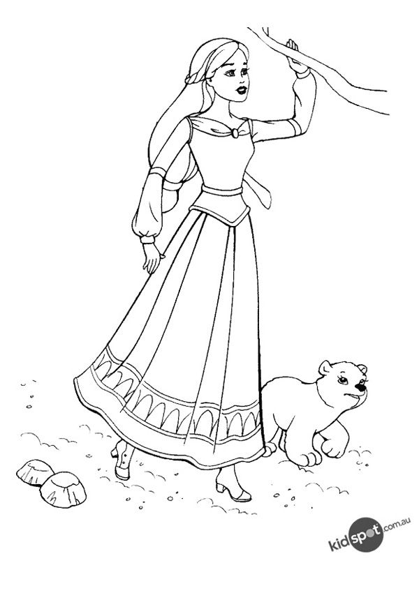 Free Online Barbie Colouring Page   Barbie coloring and Kids ...