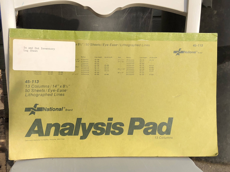 Paper Pad Analysis Pad Journaling Scrapbooking Vintage Office Supplies Analysis Pad 14 X 8 1 2 Pap In 2020 Vintage Scrapbook Scrapbook Journal Vintage Office Supplies