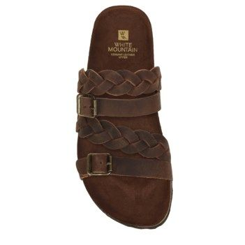 Women S Holland Leather Footbed Sandal Sandals Brown