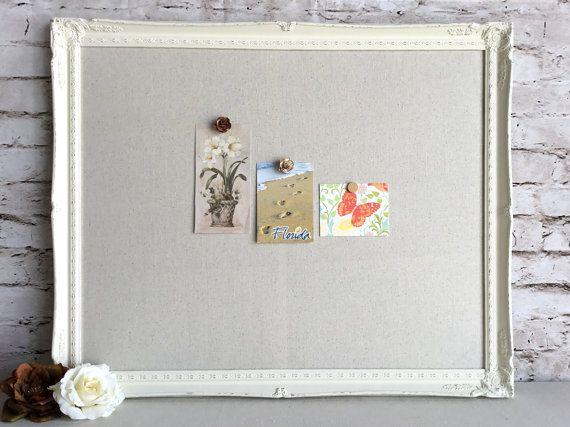 Large magnetic board - framed bulletin board - message board ...