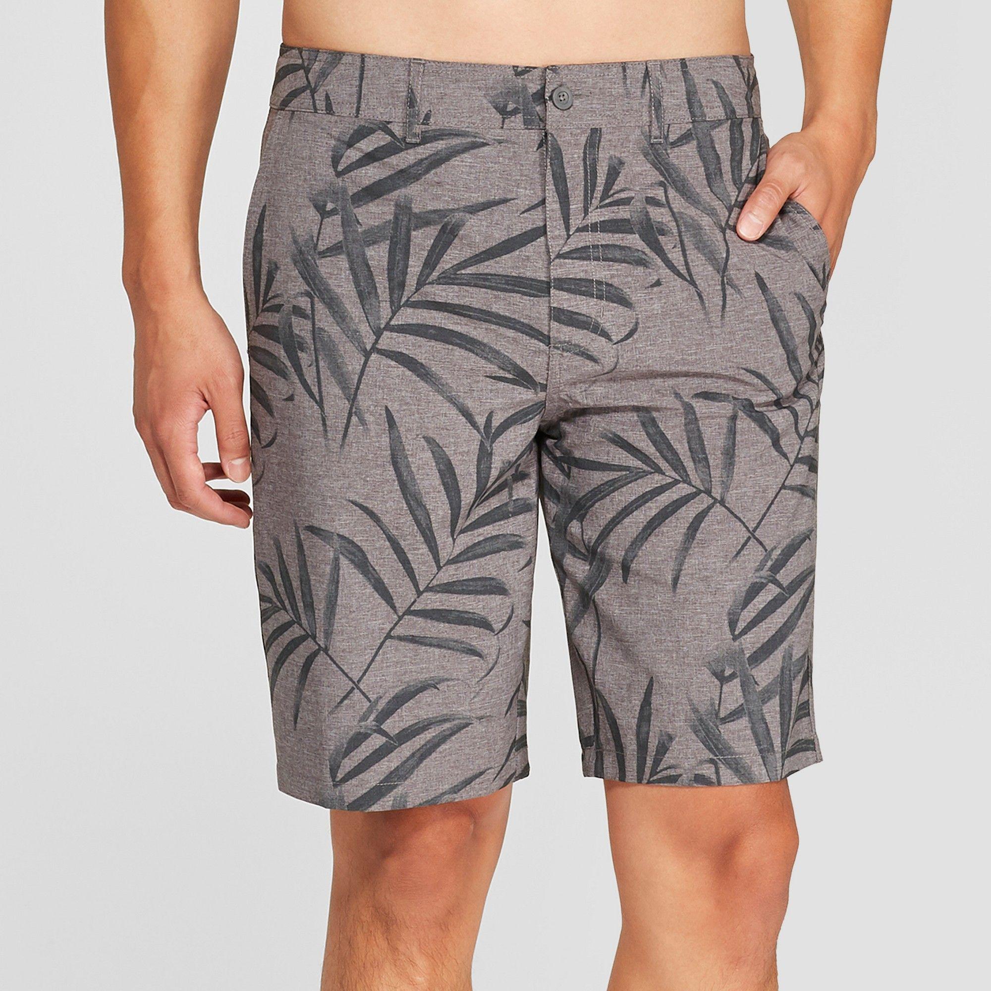 cc81621575 Men's 10.5 Burleigh Hybrid Swim Shorts - Goodfellow & Co Rich Charcoal 30,  Gray