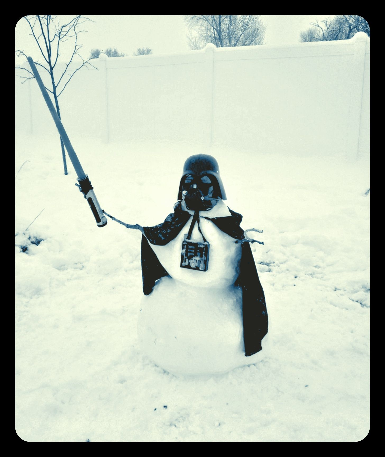 Coolest Evil Snowman, ever...made by the best dad ever.