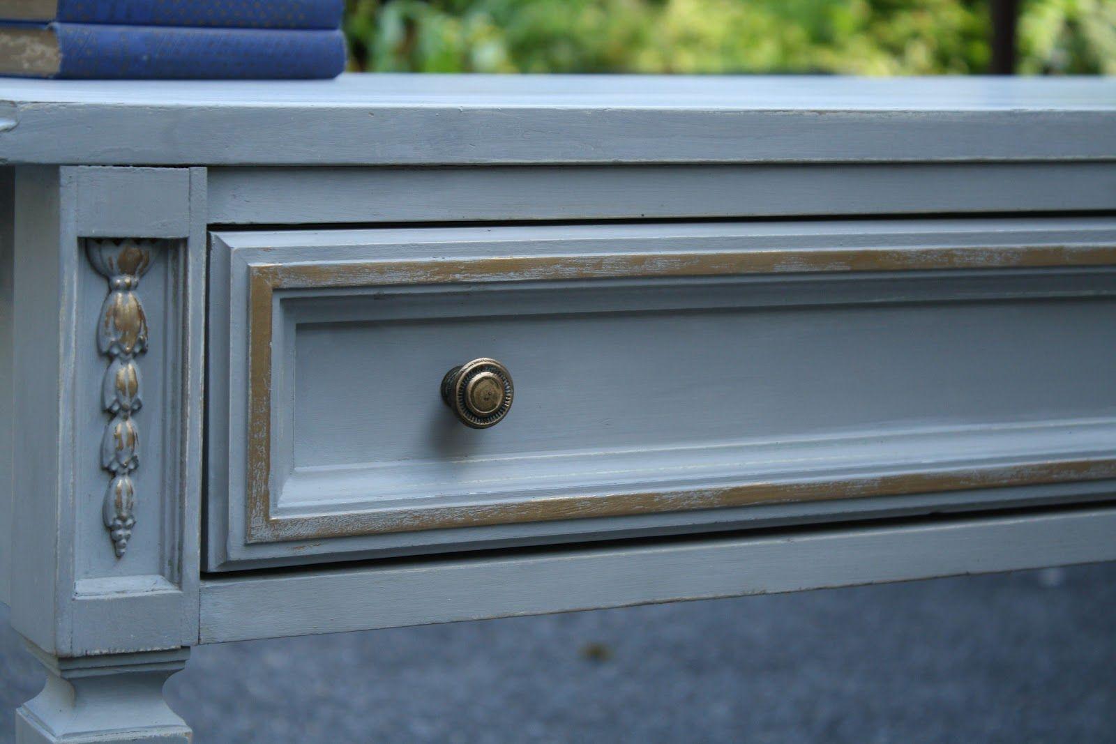 Primitive & Proper: Paris Gray Desk with Gilding