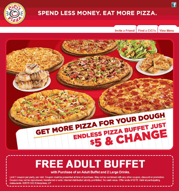 pinned april 12th second buffet free today at cicis pizza coupon via the