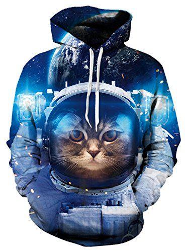 Galaxy Cat Hoodies Tracksuits Men Women Sweatshirts Unisex Funny 3D Hoody