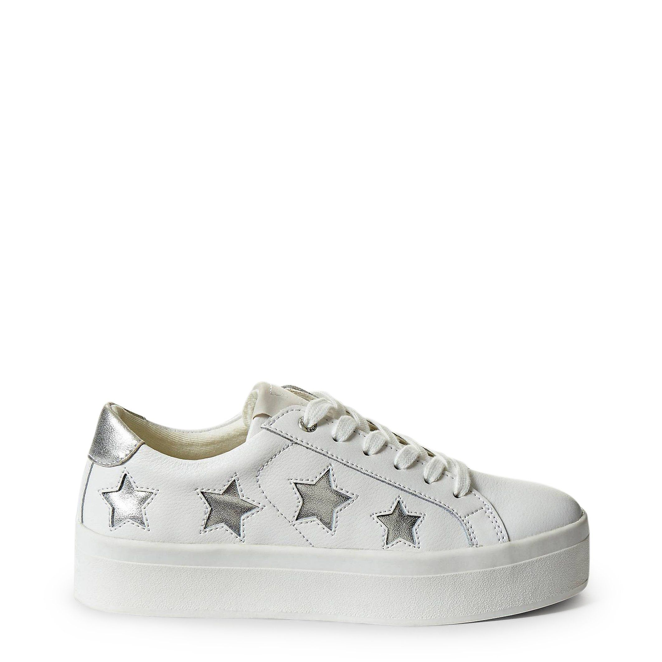 a96898cd5895 Guess Platform Sneakers In White With Stars - Blowout Clearance Sizes 6-8 -  FLFHS3LEA12