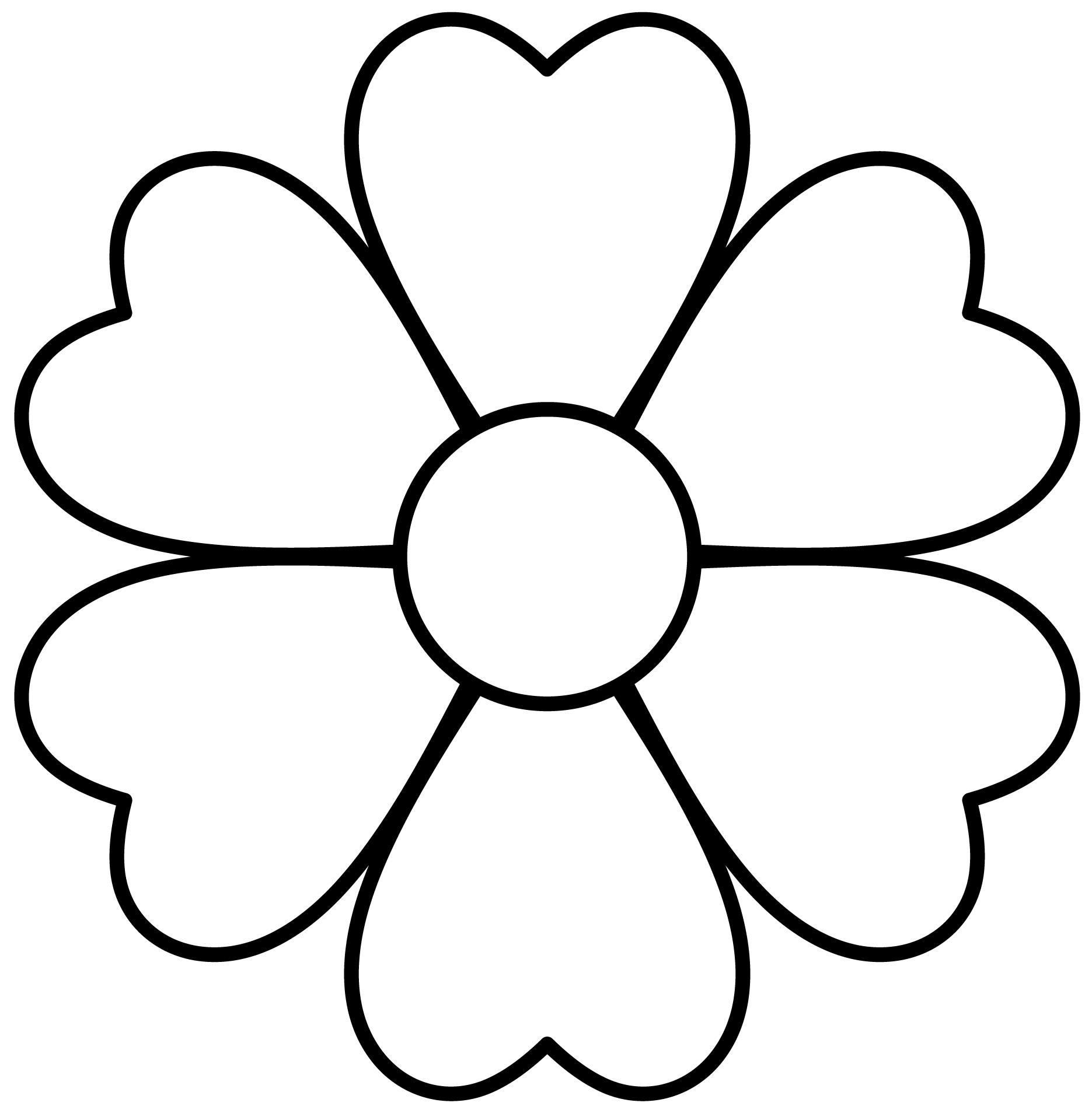 Цветок картинка разукрашка