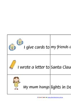 Christmas Sentence Joiners - PDF file8 page resources.24 sentence joiners.Build a sentence by joining two parts of the sentence togethe...