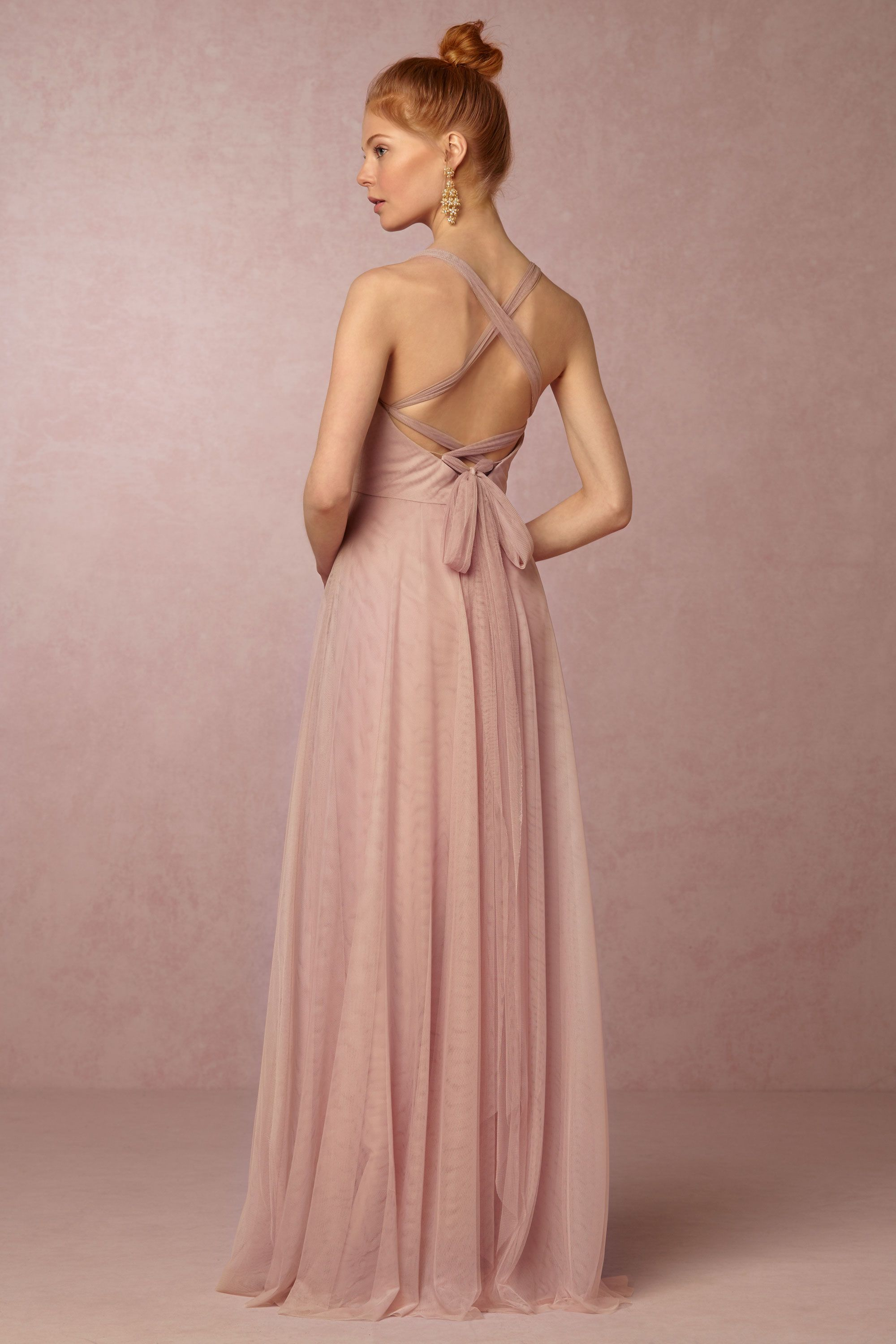 rose quartz bridesmaid dress with convertible back | Zaria Dress ...