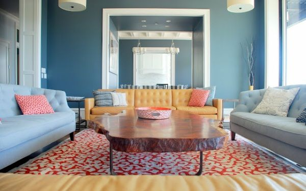 Decorating With Shades Of Coral Light Blue Living Room Blue Living Room Yellow Living Room