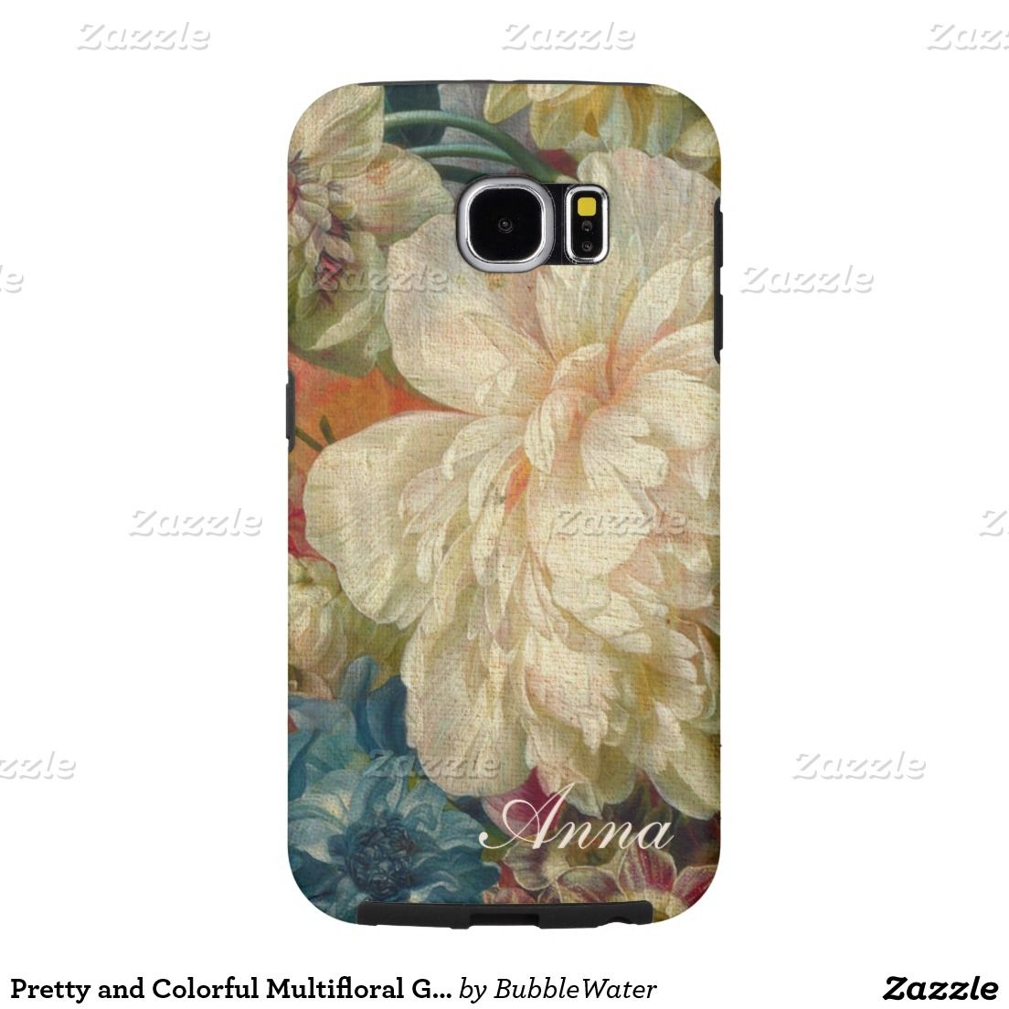 Pretty and Colorful Multifloral Galaxy S6 Case Samsung Galaxy S6 Cases