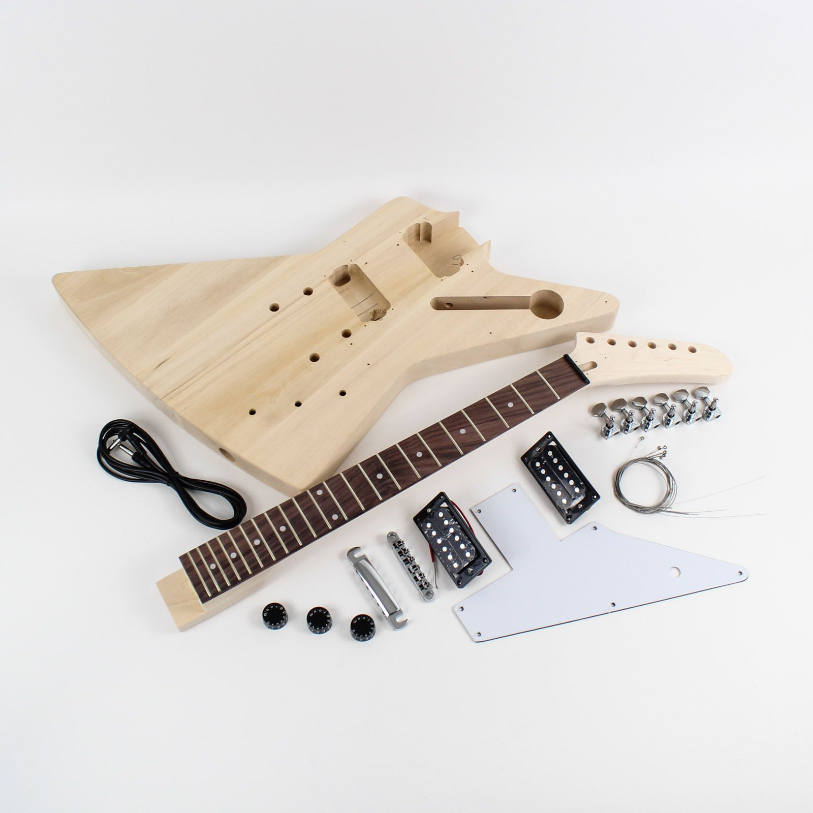 Build your own electric guitar with this diy kit styled on the build your own electric guitar with this diy kit styled on the gibson explorer free solutioingenieria Gallery