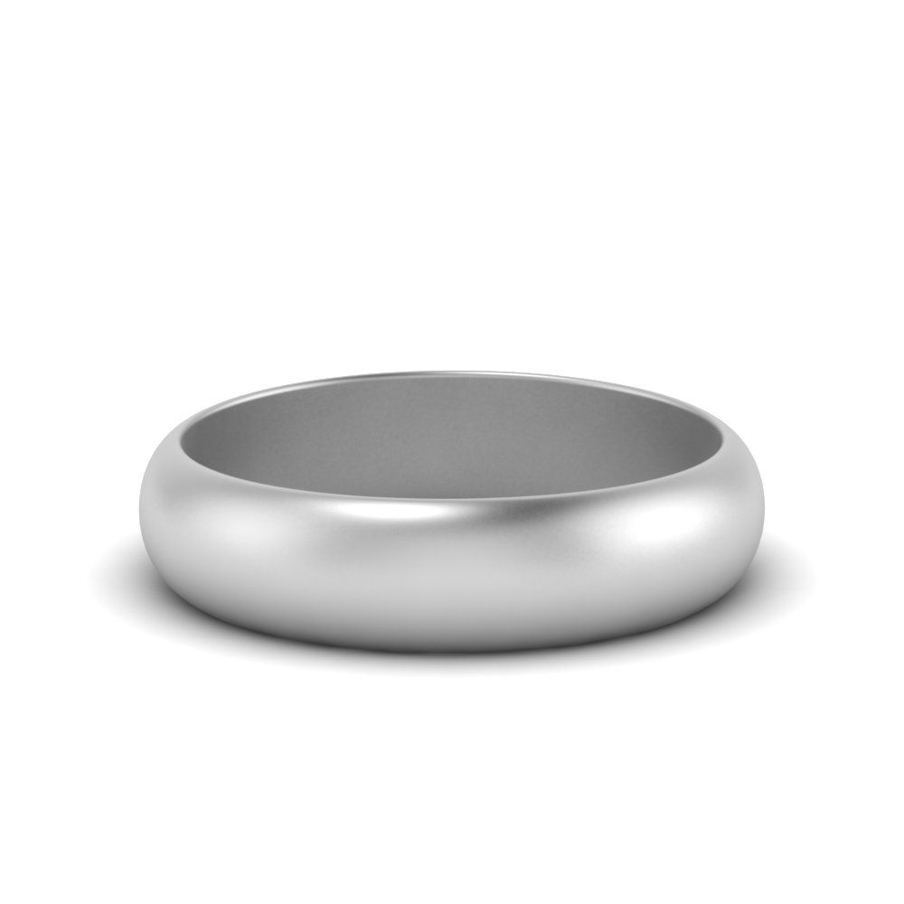 6mm light weight comfort fit mens wedding band in 14k