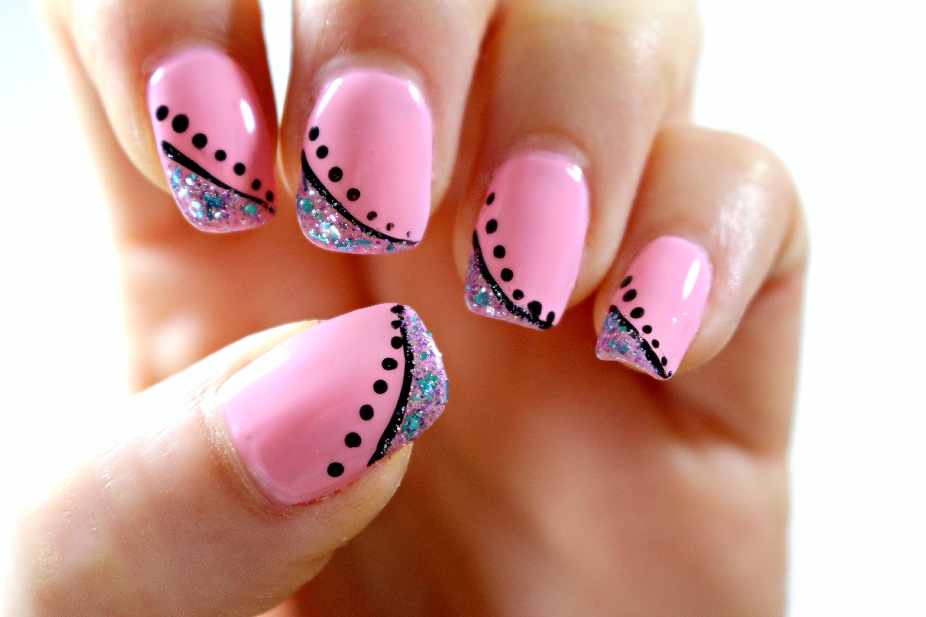 This Design Is Perfect For Spring And Summer With Pastel Pink Color As A Base And Easy Yet Bea Pink Nail Art Designs Classy Nail Designs Nail Art For Beginners