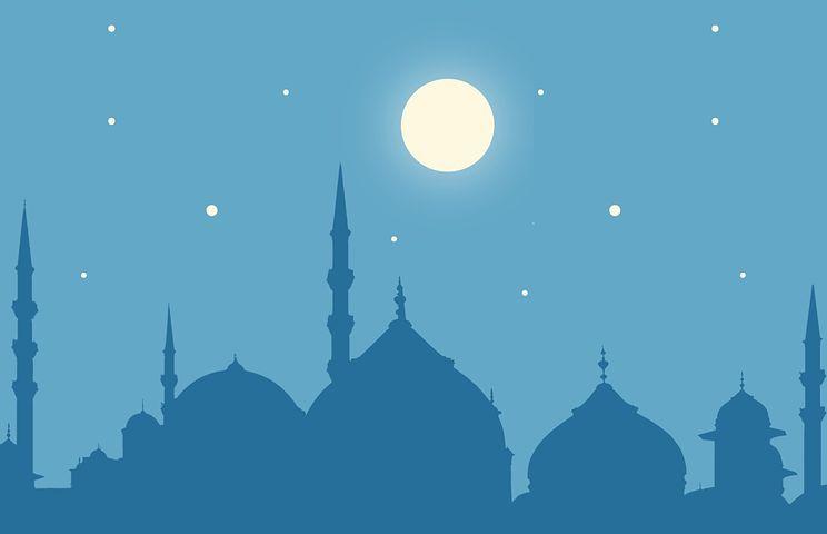 Free Image On Pixabay Ramadan Kareem Moon Masjid Eid Gambar Animasi Kartun Gambar Latar Belakang Gambar