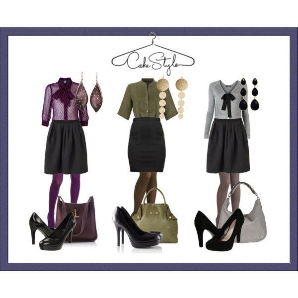 gray cardigan, black skirt, gray tights