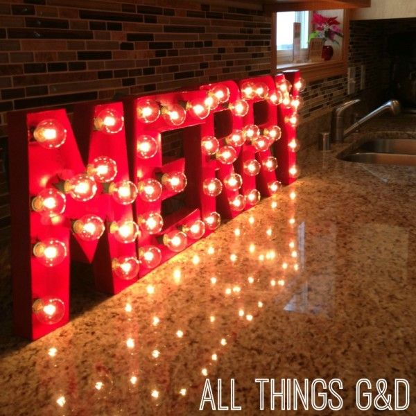 Diy Quot Merry Quot Marquee Letters Gorgeous For A Christmas