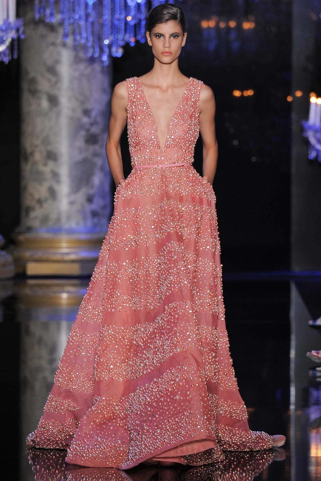 Elie Saab Fall 2014 Couture Fashion Show | Vestiditos, Vestidos de ...
