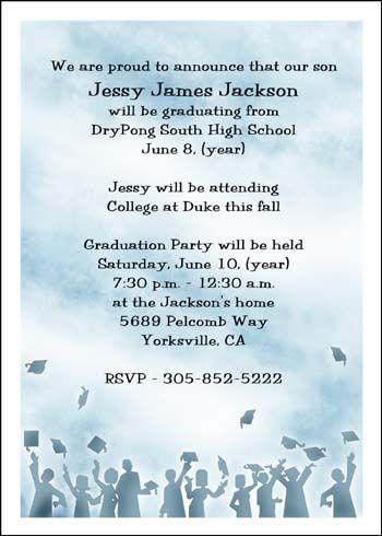 Find lots more high school graduation invitations college