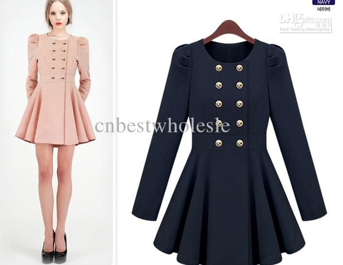 Womens spring ultra-slim luxury thin coats women fashion double ...