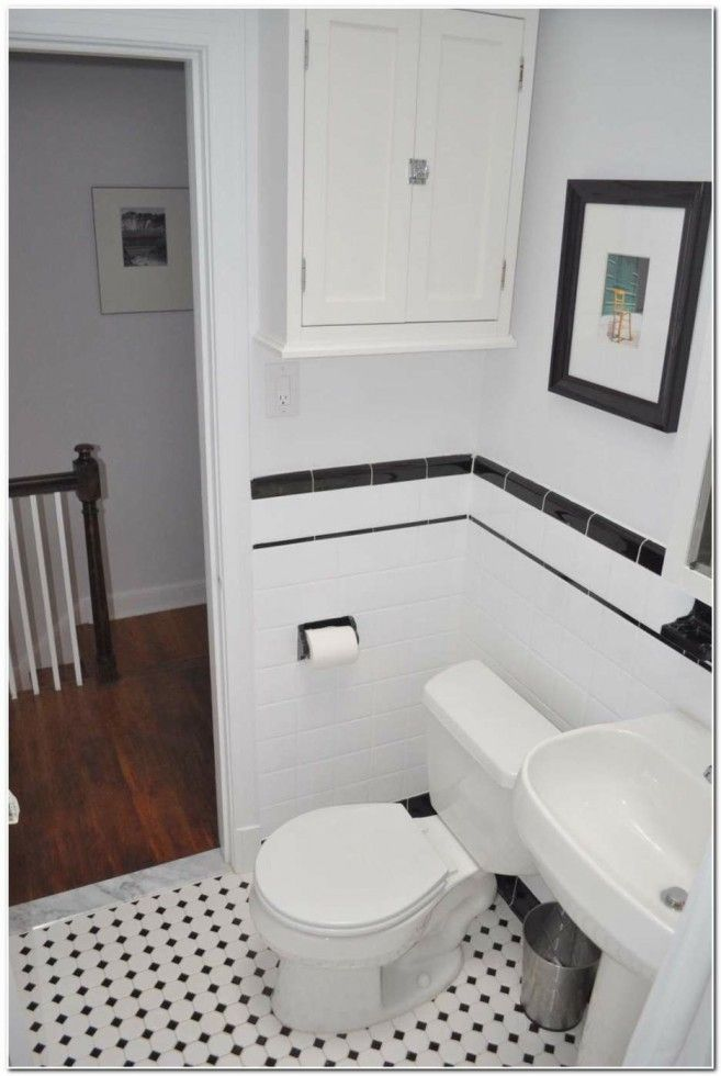 Extraordinary Decorating Ideas For Black And White Tile Bathroom ...
