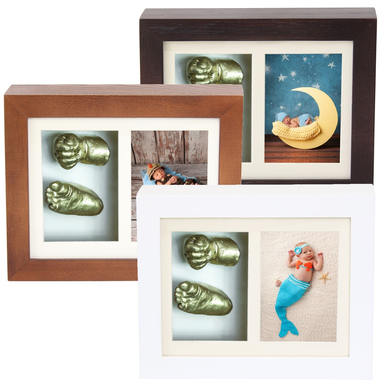 Baby 3D Gips Abdruck Handabdruck Fußabdruck Skulptur Gipsabdruck Bilderrahmen
