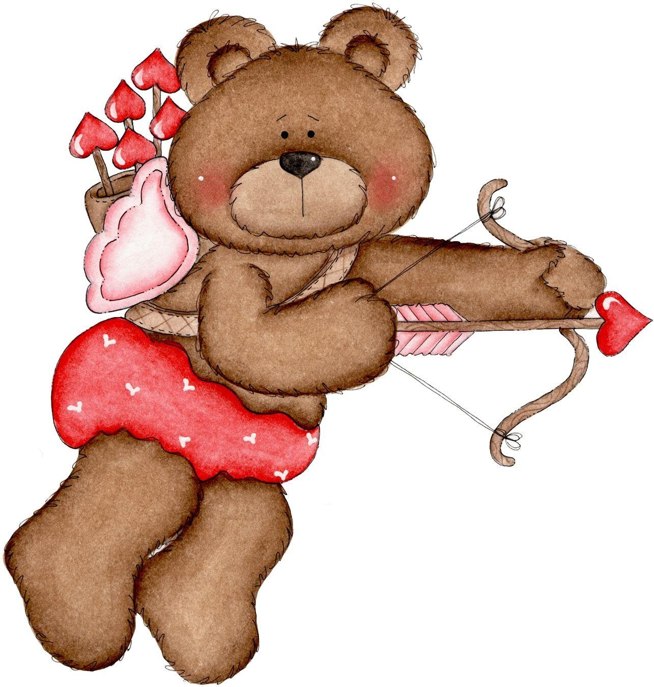 Valentine S Day Cupid Teddy Bear Clip Art Clip Art Valentine S