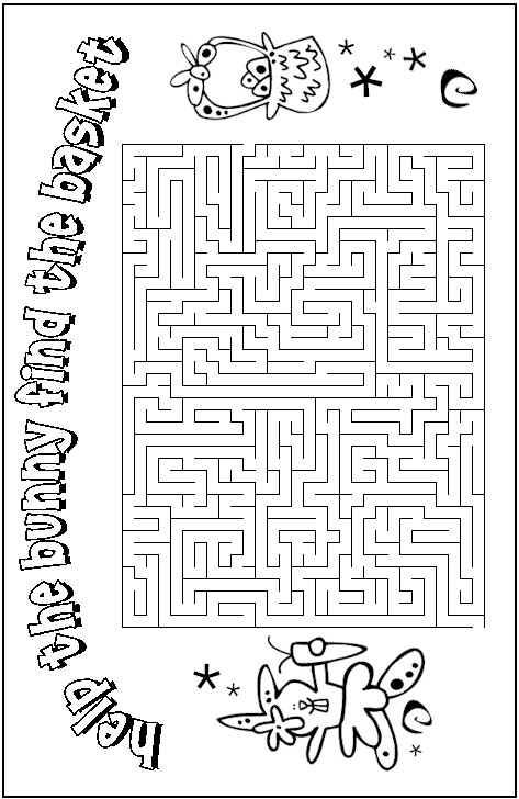 photo about Easter Maze Printable called Easter Maze Easter Easter worksheets, Easter, Easter