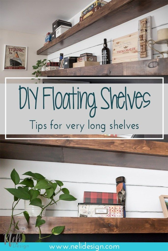 Photo of How to make very long floating shelves | NeliDesign