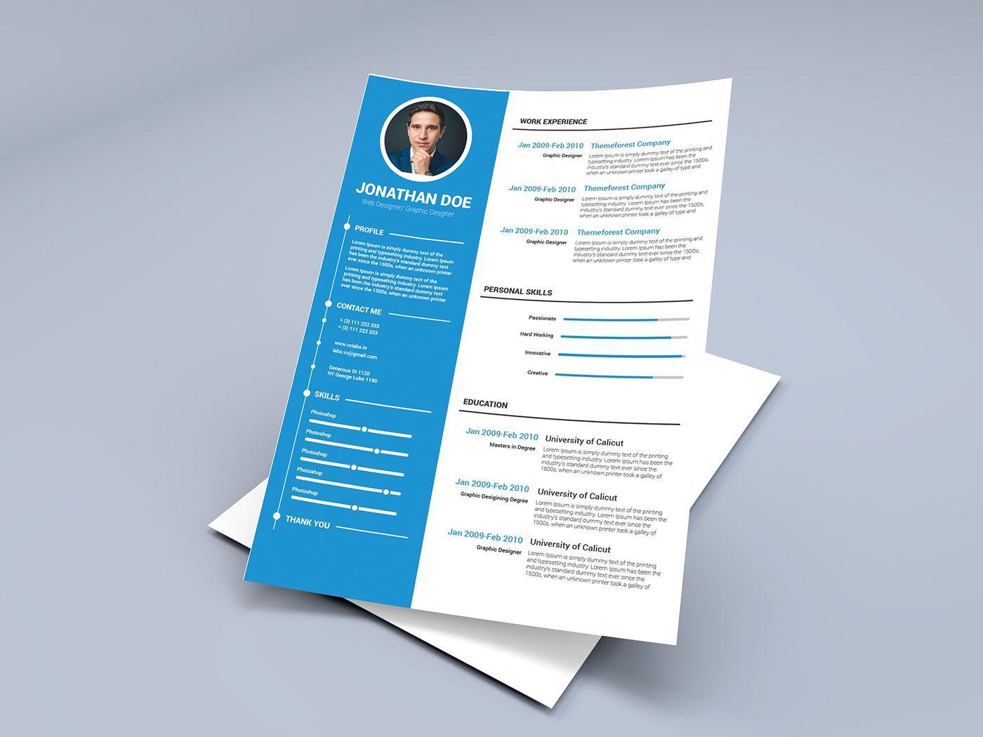 Free Resume Template On Behance Resume Template Word Resume Template Free Resume Templates