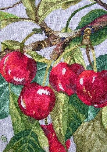 Peinture à l'aiguille réalisée par Anne Marie G.