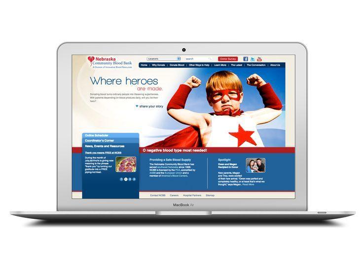 Nebraska Community Blood Bank Great website design
