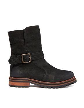 Hudson Tatham Calf, Women Biker Boots