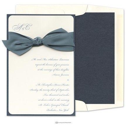 Silken Satin Invitations - Checkerboard (