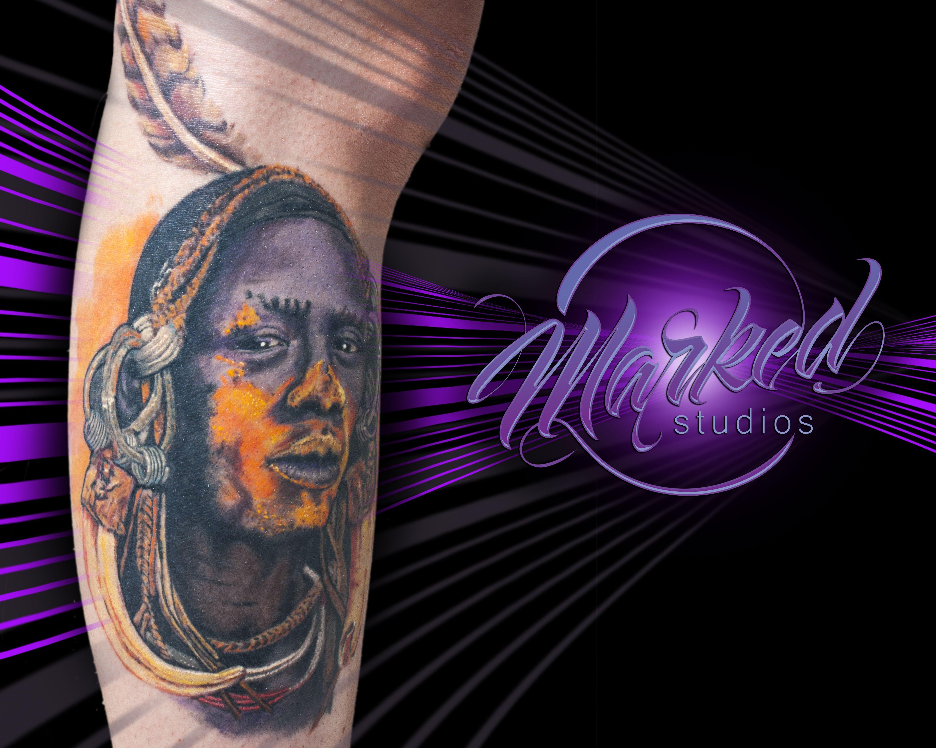 Mursi warrior tattoo tattoo realism portrait warrior