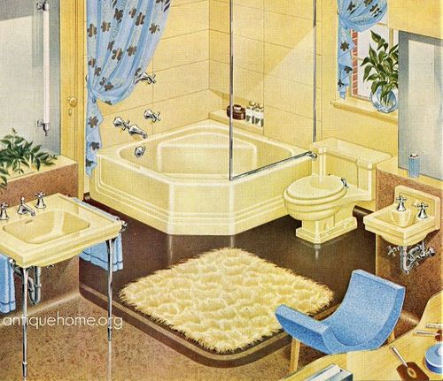 Pin On Vintage Kitchens And Baths
