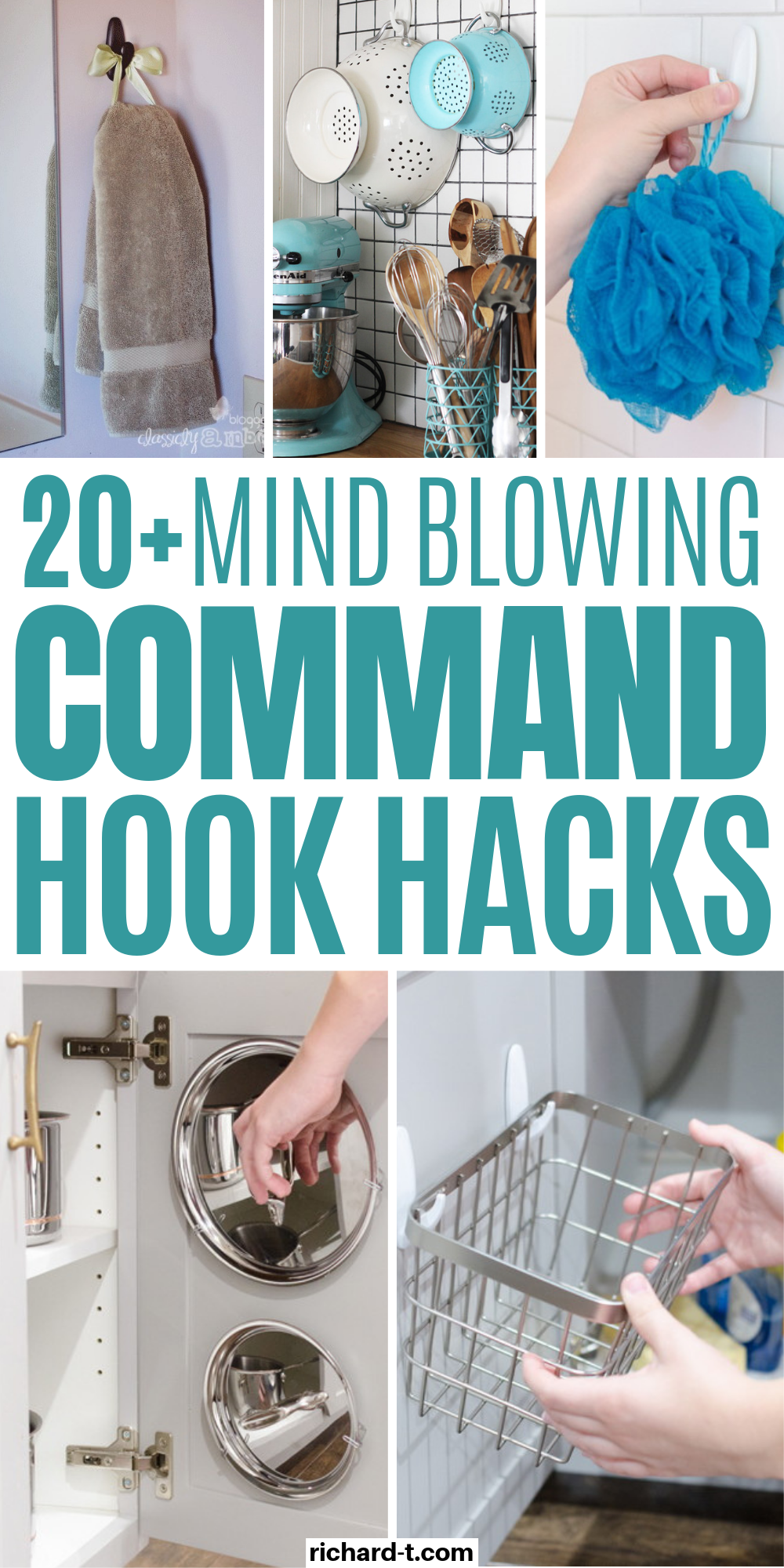 20+ Mind Blowing Command Hook Hacks That'll Change Your Life #homeorganizationideas