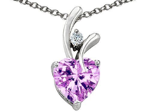 Original Star K(tm) 8mm Heart Shape Genuine Rose De France Amethyst Pendant in .925 Sterling Silver Star K. $79.99. Star K. Designs are exclusive and protected by Copyright Laws. Free Chain in a matching metal will be included. Guaranteed Authentic from the Star K designer line