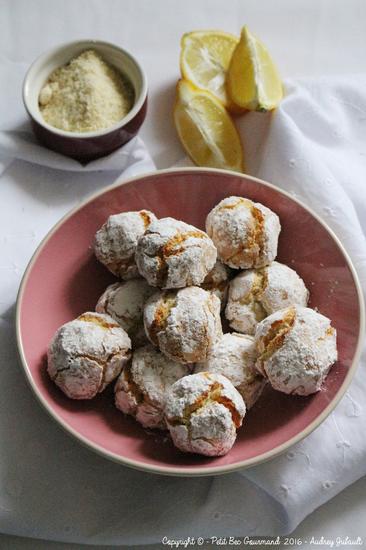 Amarettis aux zestes de citron : la recette facile