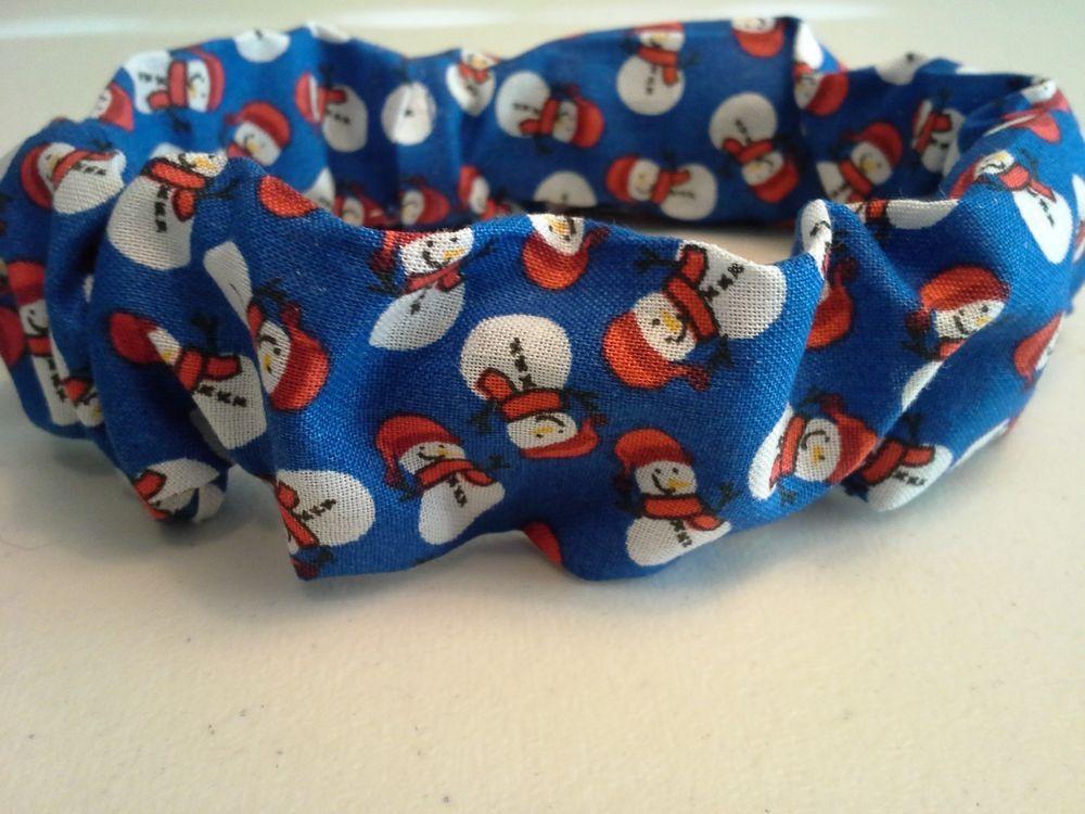 Slide On Christmas Dog Collar Scrunchie Cotton Custom Made by Linda XS S M L #CustommadebyLinda