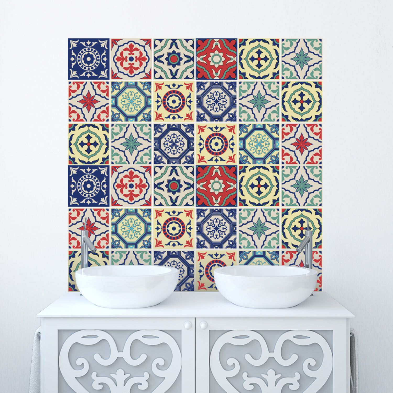 Traditional Tile Stickers Transfers for Kitchen, Bathroom and ...
