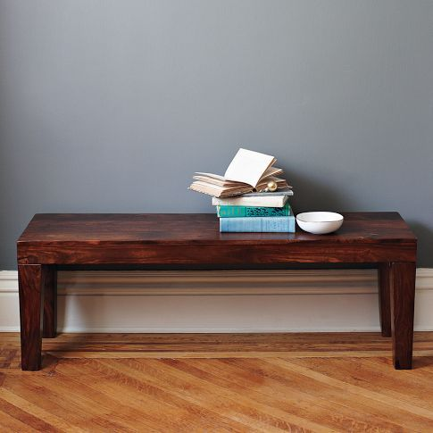 Carroll Bench - mud room | Living Spaces | Wood dining ...