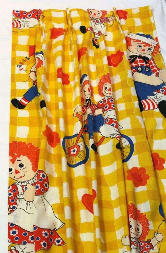 Vintage Raggedy Ann and Andy Drapes