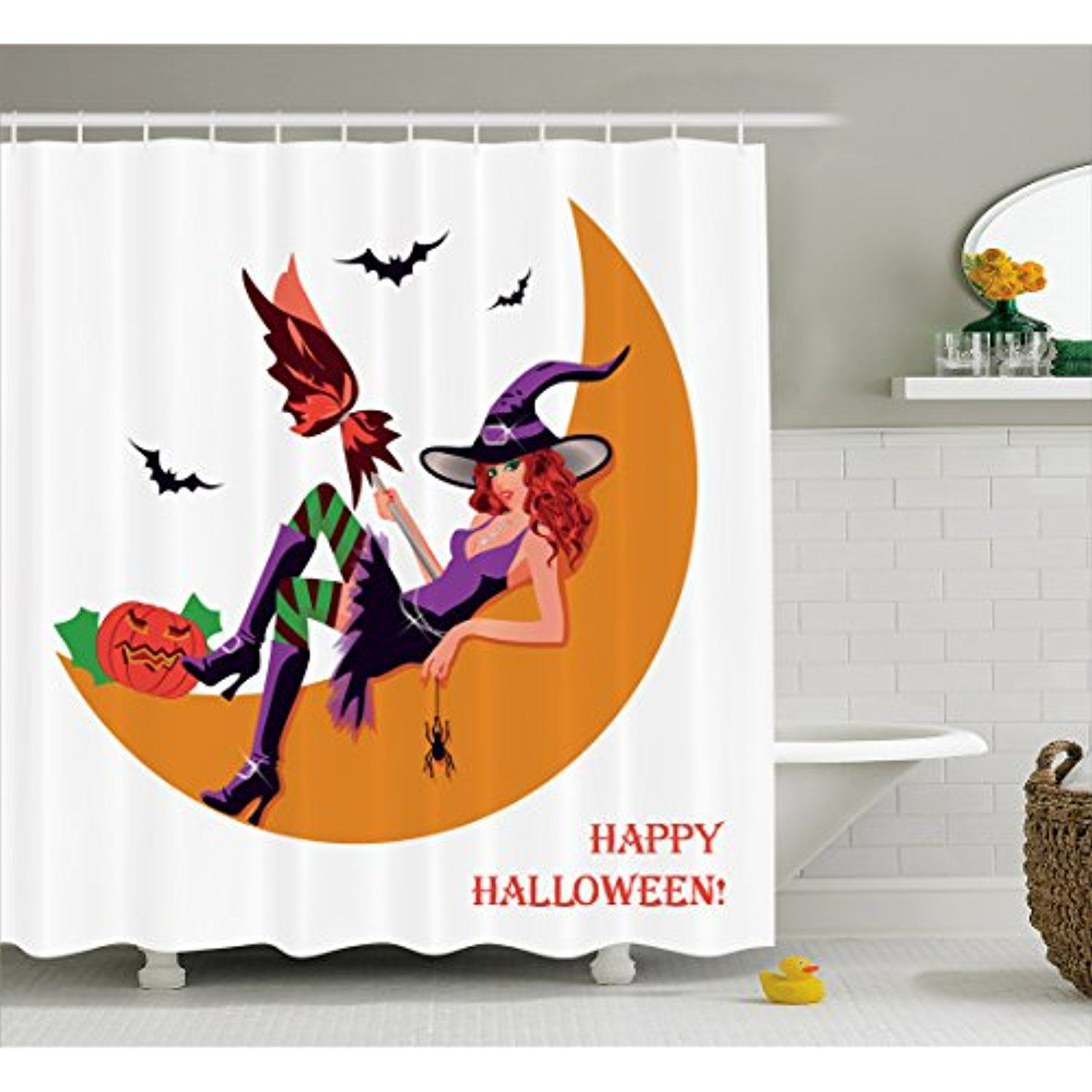Witch Shower Curtain By Lunarable, Sexy Witchy Woman On The