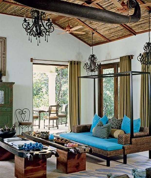 british colonial style at baghvan safari lodge india via. Black Bedroom Furniture Sets. Home Design Ideas