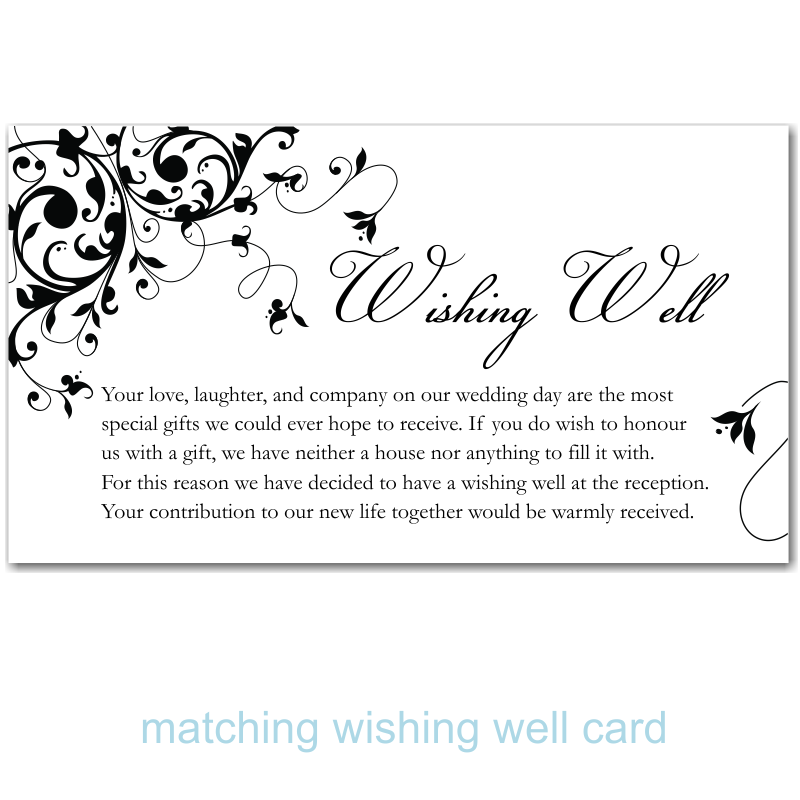 Wedding Thank You Note Wording Wedding Thank You Note Wording For Cash Gifts Wishing Well Poems Wishing Well Wedding Wedding Thank You Messages