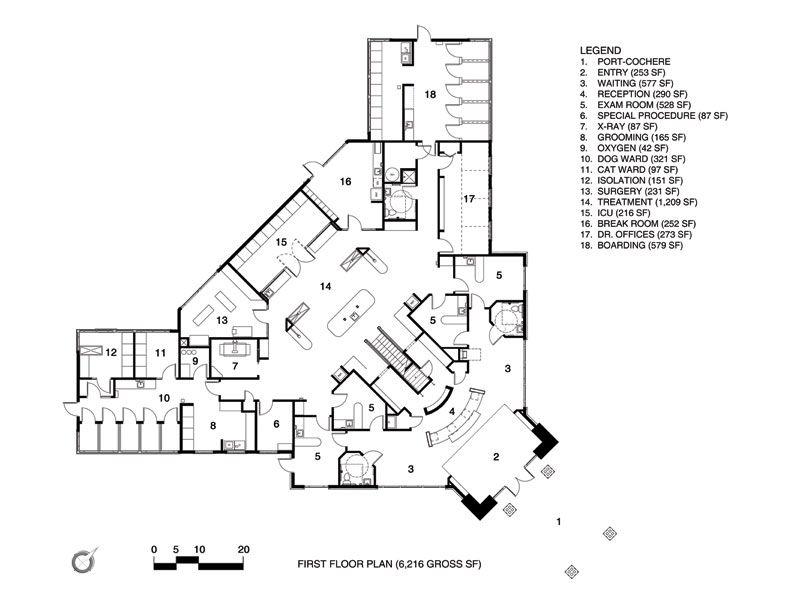 Vet Clinic Floor Plans: 2009 Hospital Design People's Choice Award Entry: Western