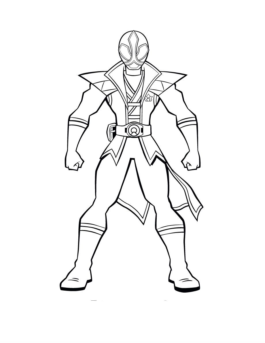Power Rangers Pose Super Samurai | Power Rangers Coloring Pages ...